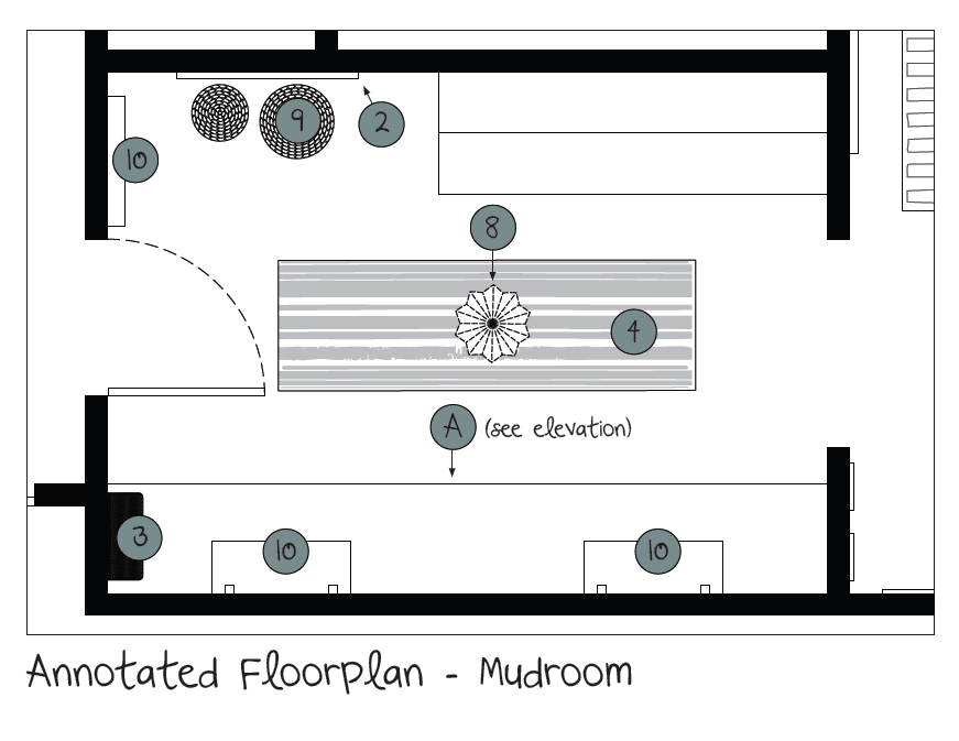 Trapanese Mudroom Floorplan
